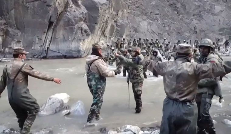 Anger crossing border: The face-off between Indian and Chinese troops at Galwan Valley | AFP