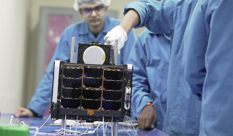 Pixxel's first satellite, Anand, being tested.