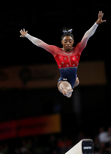 Leap of faith: Simone Biles has the chance to be the first woman in half a century to successfully defend the all-around title at the Olympics | Reuters