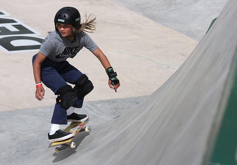 Sky Brown, 13, has appeared in an ad campaign alongside Serena Williams and Biles, has won the reality show Dancing With the Stars: Juniors and has a Barbie doll in her likeness.
