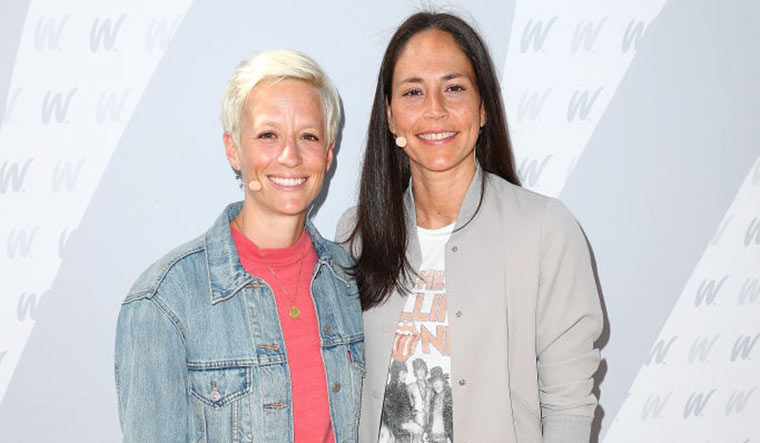 Football star Megan Rapinoe, 36, and basketball legend Sue Bird, 40, got engaged last year. They had started dating soon after Rio 2016 and could be making their last Olympic appearance at Tokyo.