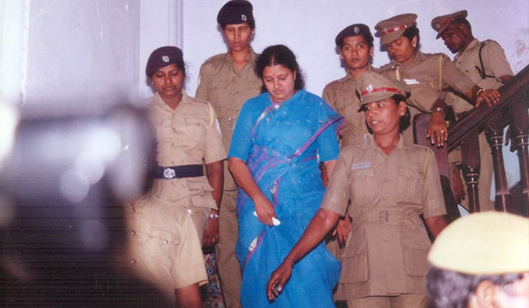 Tough times: Sasikala was arrested in 1996 in connection with the corruption cases against Jayalalithaa and her | Courtesy Nakkheeran