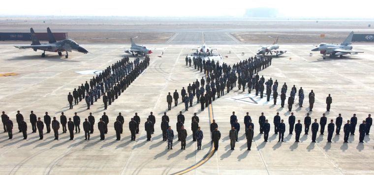 Allies in air: Participants of Shaheen-IX, a joint exercise by Chinese and Pak air forces, at the operational base in Pakistan | Twitter/DGPR PAF