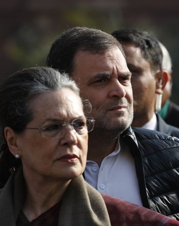 Firm hand: Operation Punjab had the imprint of Rahul Gandhi writ large, with Sonia stepping back from the thick of the action   AP