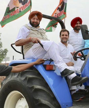 Good old days: Amarinder Singh and Rahul Gandhi campaigning during the 2019 Lok Sabha polls | PTI
