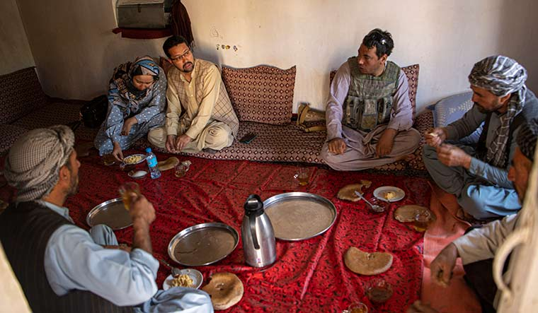 Lost battle: Mazari and her husband with associates in Charkint | Massoud Hossaini
