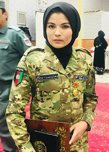 Serving her country: Najiba Noor Dilawari.