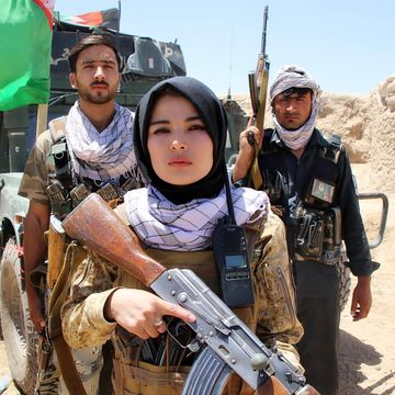 Fighting for honour: Najiba shot down two Taliban fighters in an encounter.