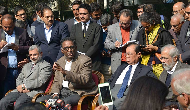 Unusual move: Four senior-most judges of the Supreme Court holding a press conference in Delhi | Arvind Jain