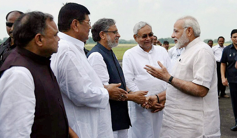 "Bihar Deputy Chief Minister Sushil Modi, of the BJP, said, ""The next elections will be under PM Modi's image and Nitish Kumar's work."" 