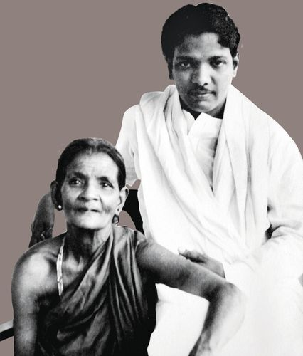 Making history: Karunanidhi with his mother, Anjugam | Gnanam