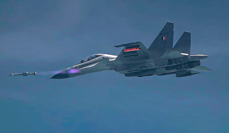 Lethal weapon: A Sukhoi fighter test-fires the DRDO's Astra Mk-II air-to-air missile | PTI