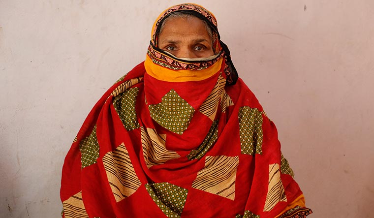 Picture of grief: Mushtari Bhanu, Amani Fathima's mother, in her house in Azamgarh   Pawan Kumar