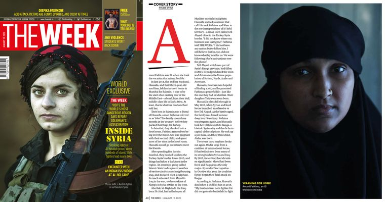 Photo of Fathima, as featured in THE WEEK's Syria cover story published in January.