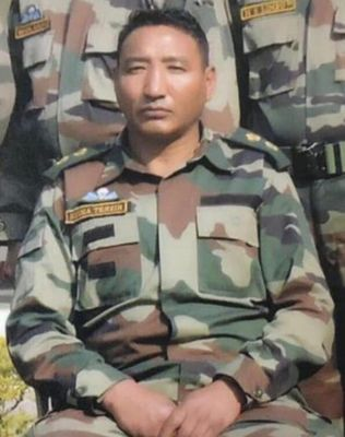Nyima, 51, died in a landmine blast on August 30 during an operation to thwart attempts by the Chinese PLA to transgress into Indian territory.
