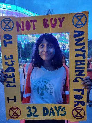 Activist's life: Disha Ravi's picture in a social media post.
