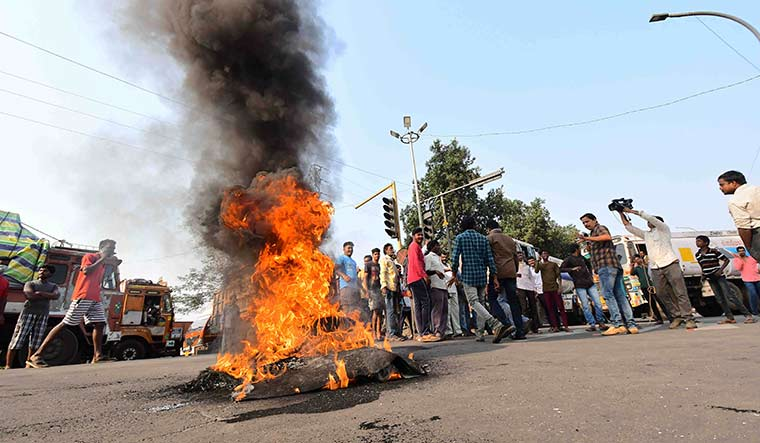 Steely resolve: Protests in Visakhapatnam against the privatisation of Vizag steel plant.
