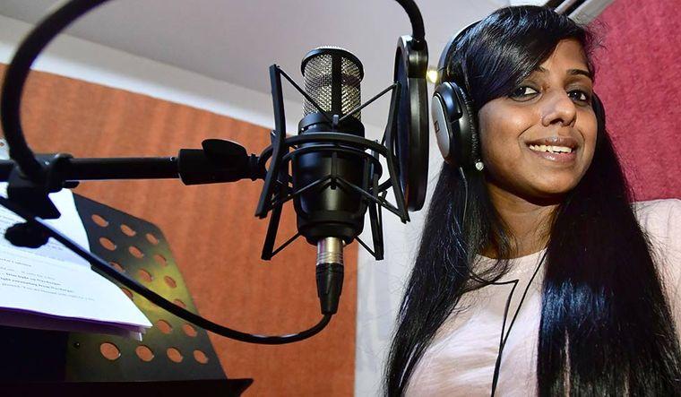Anju Paniker at their recording studios in Mumbai | Janak D Bhat