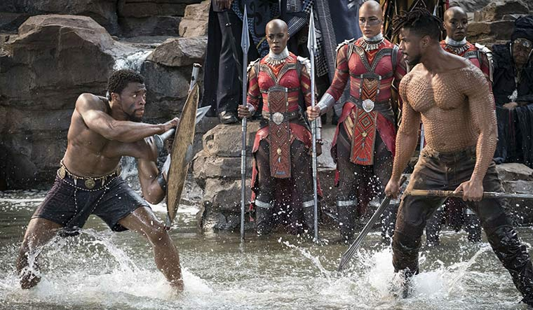 A still from the new Black Panther movie