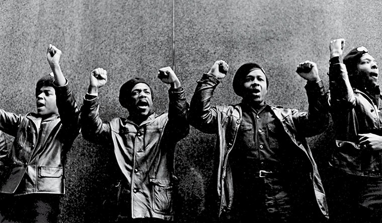Black power: Members of the controversial Black Panther Party protesting outside a court in New York in April 1969 | Getty Images