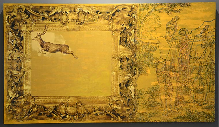 New narrative: V. Ramesh's work, This or That: Regarding a Golden Deer | Anant Art Gallery, New Delhi