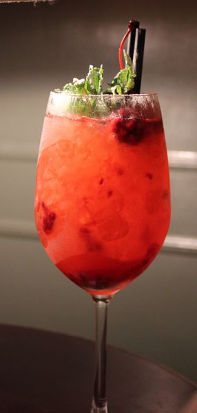Say cheers: Berry Spritiz, a gin cocktail at PDA in Delhi. PDA specialises in gin-based cocktails.