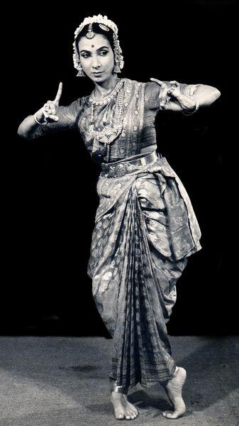 Sarabhai during a bharatnatyam performance.