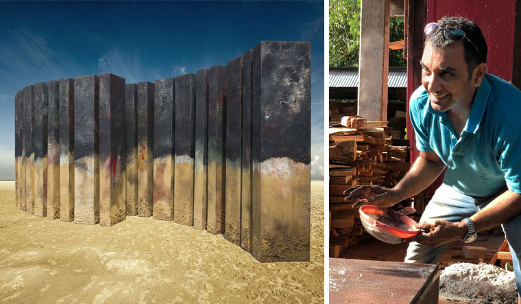 Desert form: Ceramist Adil Writer's A Deserted Barcode | Marco Saroldi, Auroville
