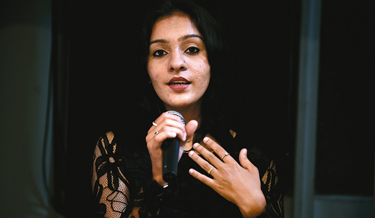 Striking a chord: Sruthi Ramnarayan from Chennai, who became the first runner-up in vocal category in Delhi this year | R.G. Sasthaa