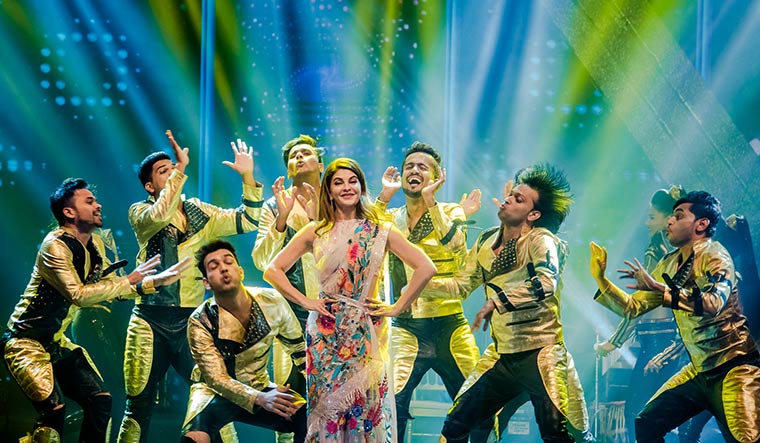 Celebrating in style: Jacqueline Fernandez's performance at the sangeet of poorna patel and namit soni.