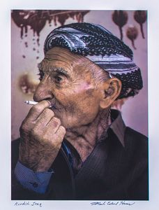 Photograph of an Iraqi man by Mark Edward Harris, part of Pause.