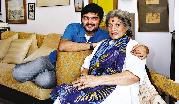 Mama's boy: Quasar with his mother Dolly Thakore at their home in 2014 | Amey Mansabdar