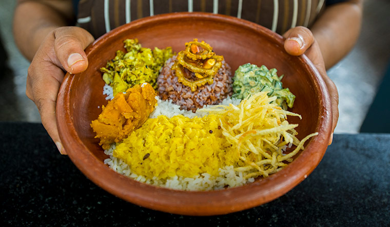Rice and shine: A dish of hetumari and tulaipanji rice served at the edible Archives Exhibition in Kochi | Vipin Das P.