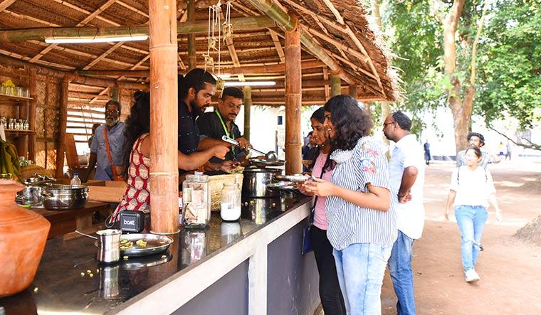 Served artfully: Vipin Dhanurdharan's open  kitchen installation at the Kochi-Muziris Biennale | Vipin Das P.