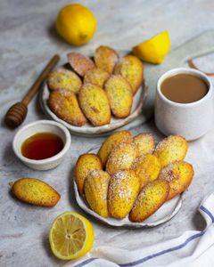 Edible art: lemon-poppy seed madeleines.
