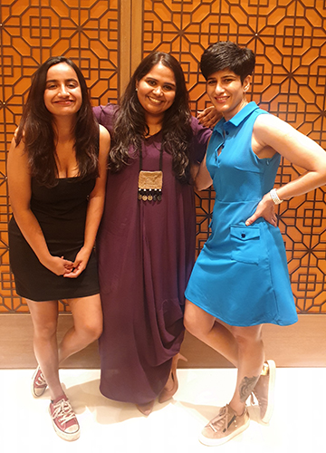 Having the last laugh: Urooj Ashfaq (left), host of Comicstaan 2, with judges Sumukhi Suresh and Neeti Palta