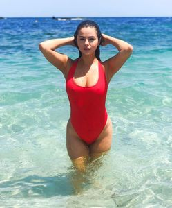 Selena Gomez in a Baywatch suit | Photo courtesy Theresa Mingus