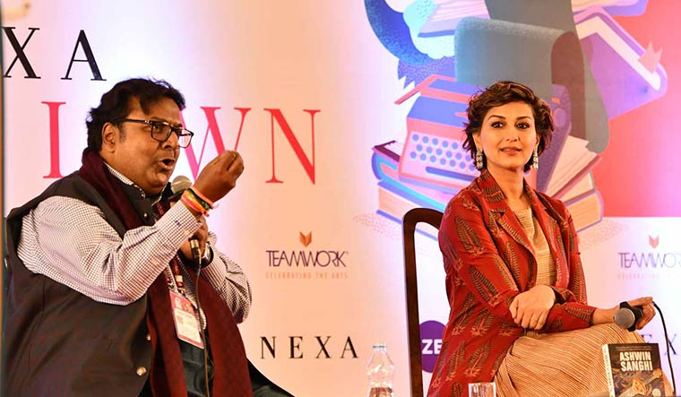 Book talk: A session with writer Ashwin Sanghi and actor Sonali Bendre | Sanjay Ahlawat
