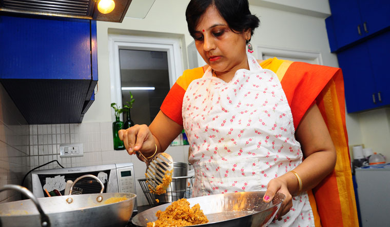 Monika Khandelwal, a Rajasthani home chef living in Hyderabad | P. Prasad