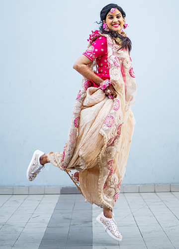 Wedding outfit designed by Shruti Kasat.