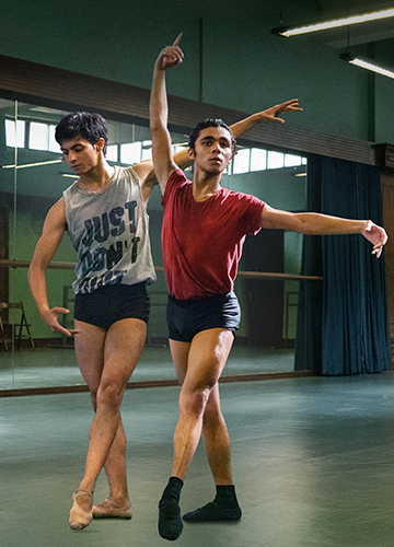 Dancers Manish Chauhan and Achintya Bose who star in the film, Yeh Ballet.