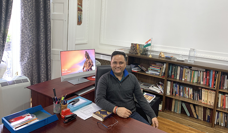 Culture peddler: Tripathi at his office at the Nehru Centre