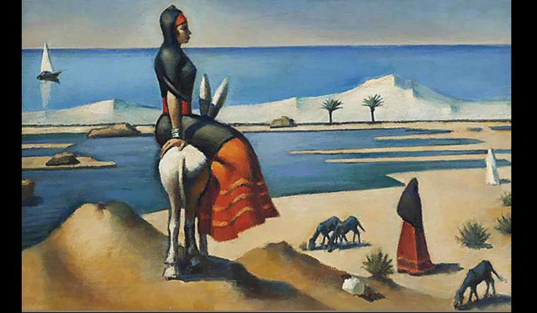 Shepherdess in Alamein by Mahmoud Said (1959)