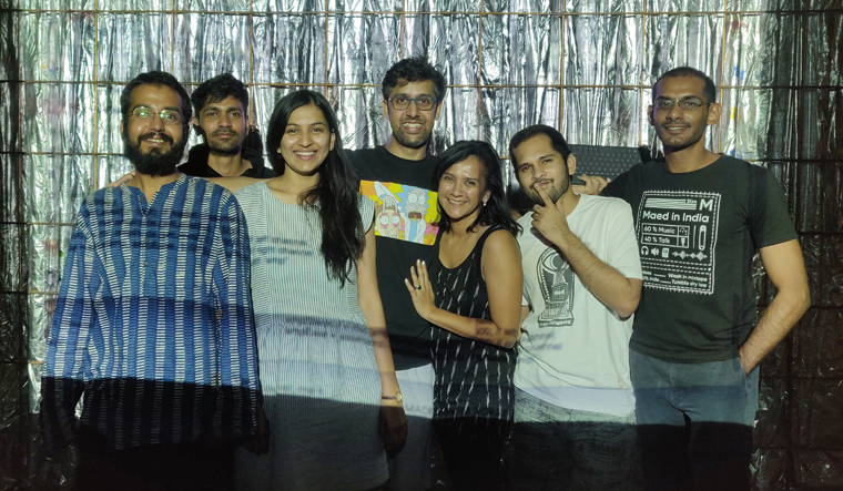 E-music for all: The Algorave India team at a music festival in Pune