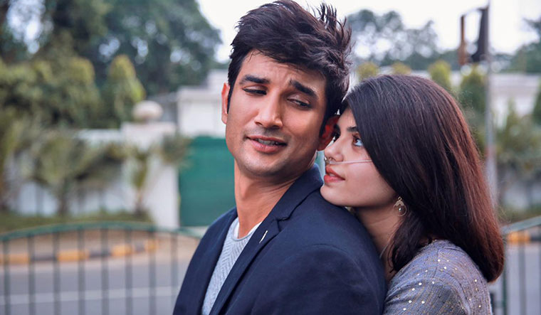Rajput and Sanjana Sanghi in a still from the film.