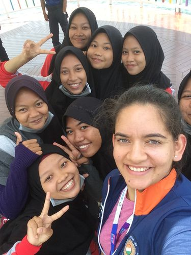 shooter Anjum Moudgil with fans.