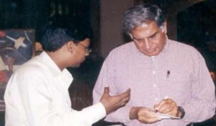 Super fans: Santosh Kumar lahoti with industrialist Ratan Tata.