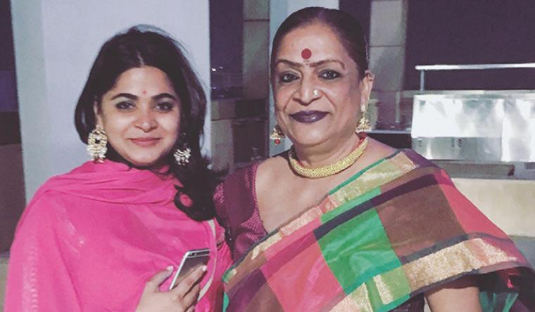 Filmmaker Ashwini Iyer Tiwari with mother Lata | Photo courtesy: Penguin Random House