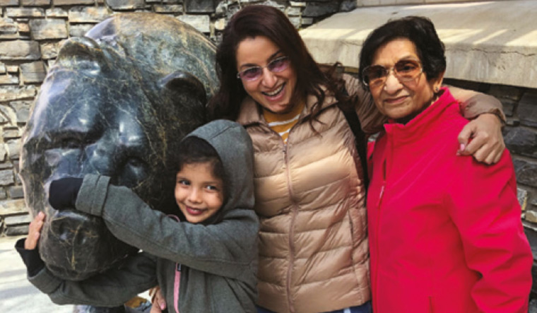 Actor Tisca Chopra with her mother Pammi and daughter Tara | Photo courtesy: Penguin Random House