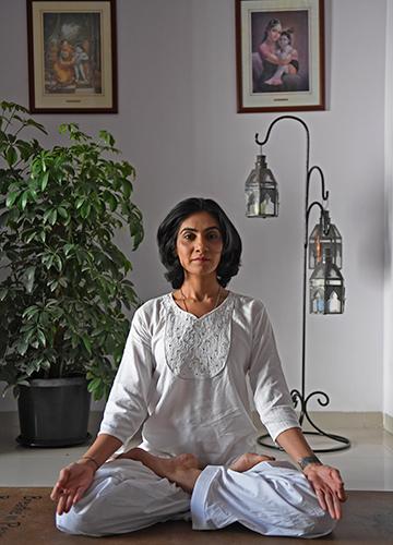 "Breathing tranquillity: Radio presenter Yamini Sharma considers herself ""far removed from the world of speed junkies"" | Amey Mansabdar"